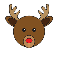 Link to animaru Red-nosed Reindeer